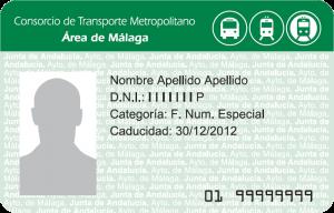Tarjeta Monedero Consorcio Metro de Málaga