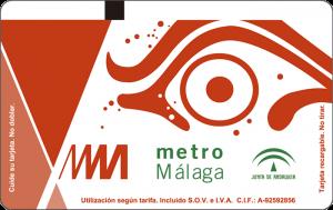 Tarjeta Ocasional Metro de Málaga