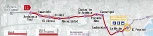 Línea 1 Metro de Málaga