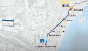 Línea 2 Metro de Málaga