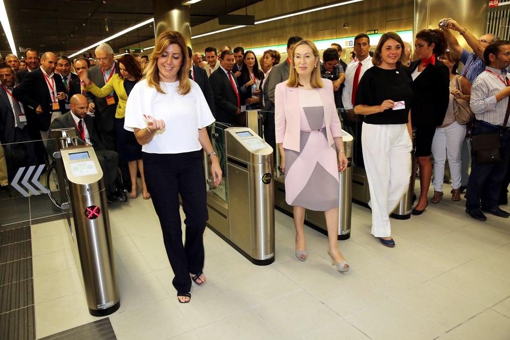 Susana Díaz inaugura las líneas 1 y 2 del metro de Málaga tras una inversión de 600 millones de euros