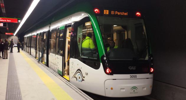 El metro de Málaga celebra cinco días de puertas abiertas en la semana previa a su puesta en marcha