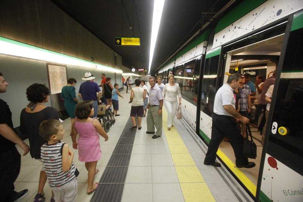 El metro de Málaga transporta a más de 143.000 viajeros desde su puesta en marcha