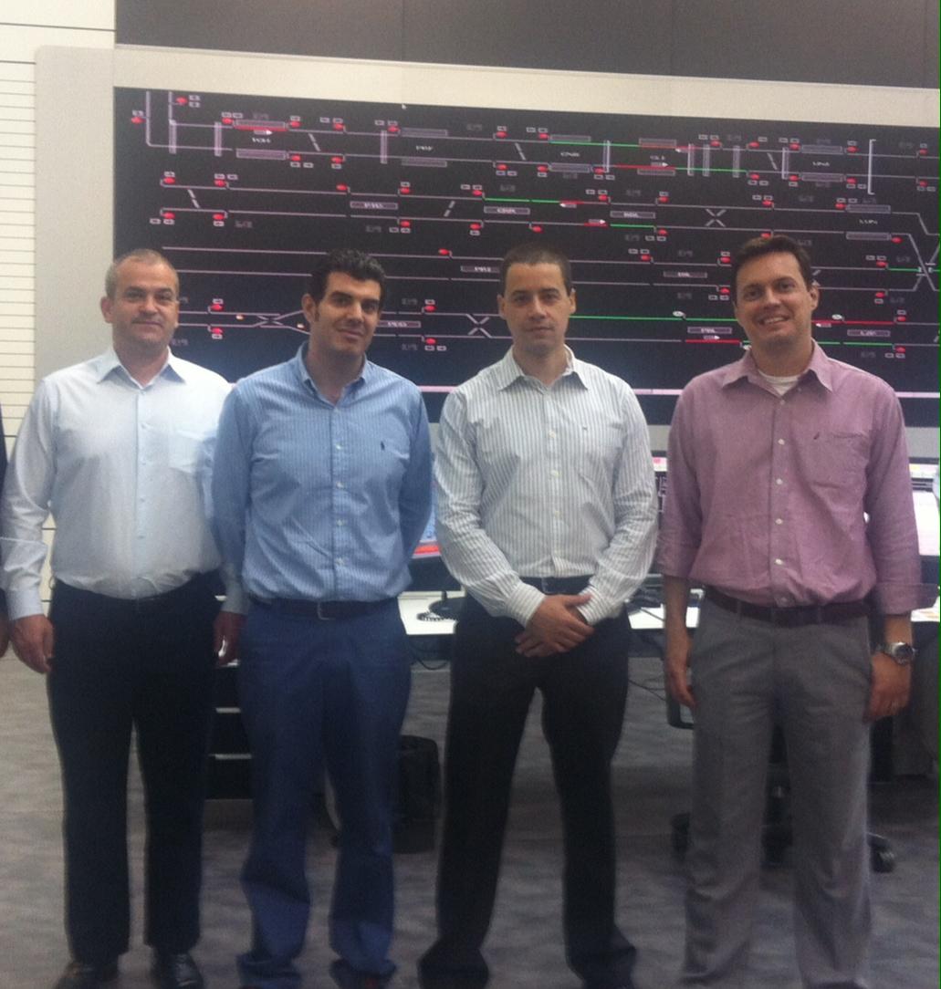 Representantes de Metro Río conocen la tecnología e instalaciones del suburbano de Málaga