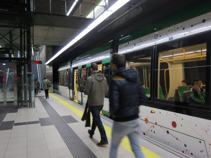 El metro de Málaga cumple sus previsiones en 2014 al transportar 2,05 millones de viajeros
