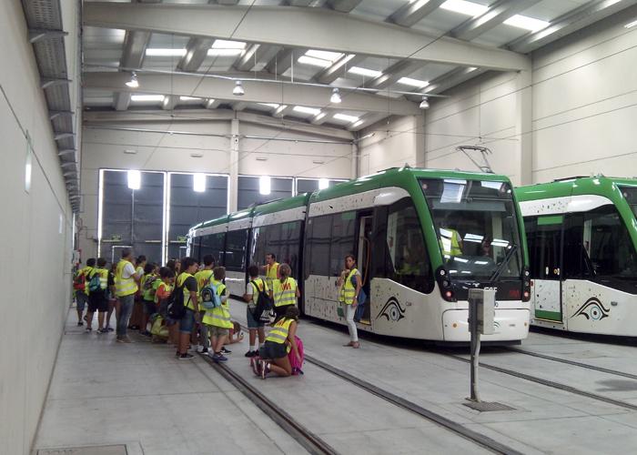 Visita de Alumnos de Primaria a Metro de Málaga con motivo de la Semana de la Movilidad 2015