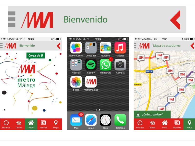 Metro de Málaga lanza una app para informar sobre horarios, tarifas y servicios especiales