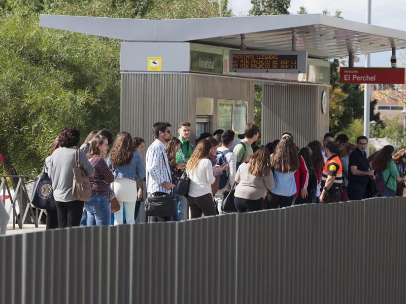 Metro de Málaga supera sus previsiones para 2015 y transporta a casi 5 millones de viajeros