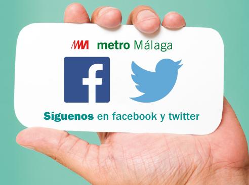 Metro de Málaga pone en marcha sus perfiles en Facebook y Twitter
