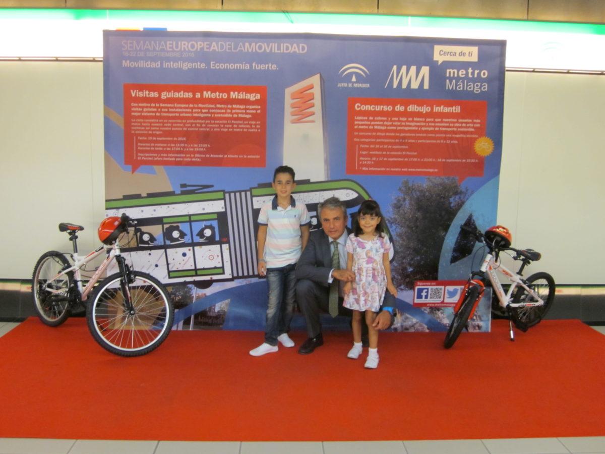 Metro de Málaga entrega los premios del concurso de dibujo celebrado con motivo de la Semana Europea de la Movilidad