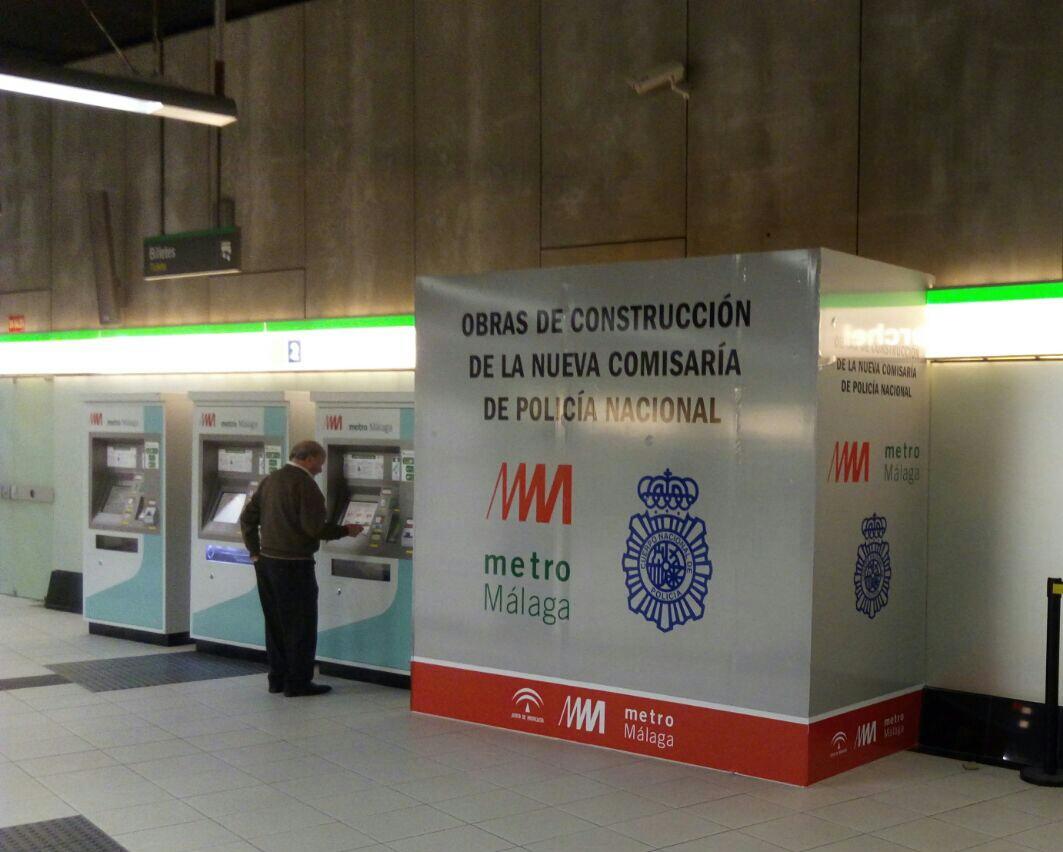 Metro de Málaga inicia las obras para instalar una comisaría de Policía Nacional en la estación de El Perchel