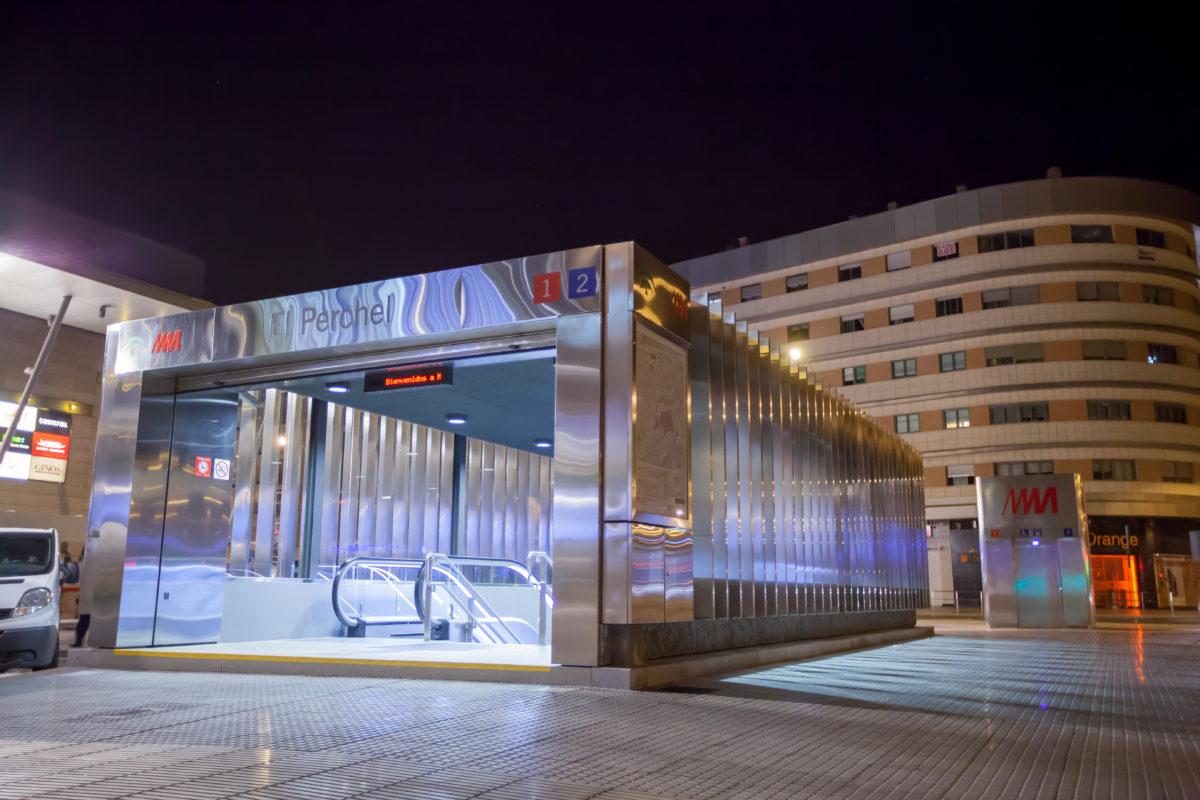 La estación de metro El Perchel, protagonista de un simulacro de emergencias en la noche del martes al miércoles