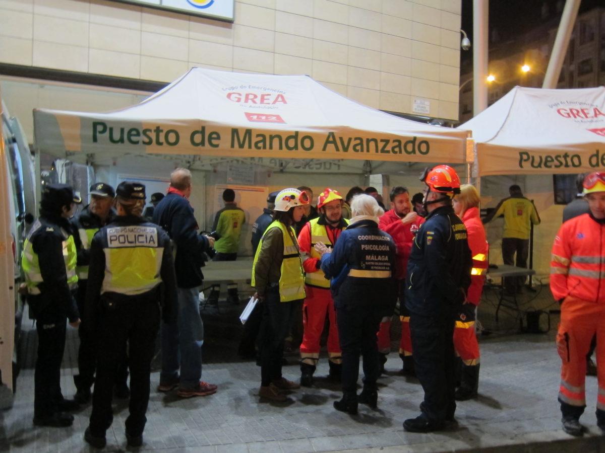 Metro de Málaga realiza con éxito un simulacro de  emergencias en El Perchel con más de 240 efectivos