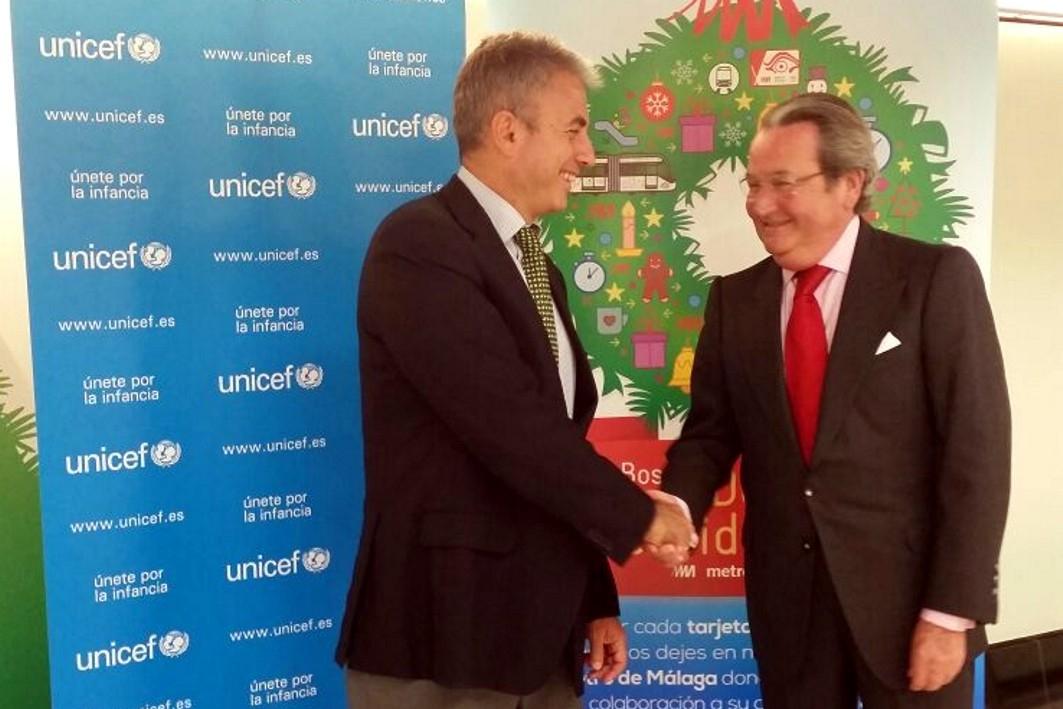 El Bosque de los Deseos del Metro de Málaga recaudará fondos para Unicef en la estación de El Perchel