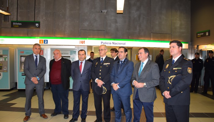 Metro de Málaga entrega las instalaciones de la Policía Nacional en El Perchel, que estarán operativas a principios de febrero
