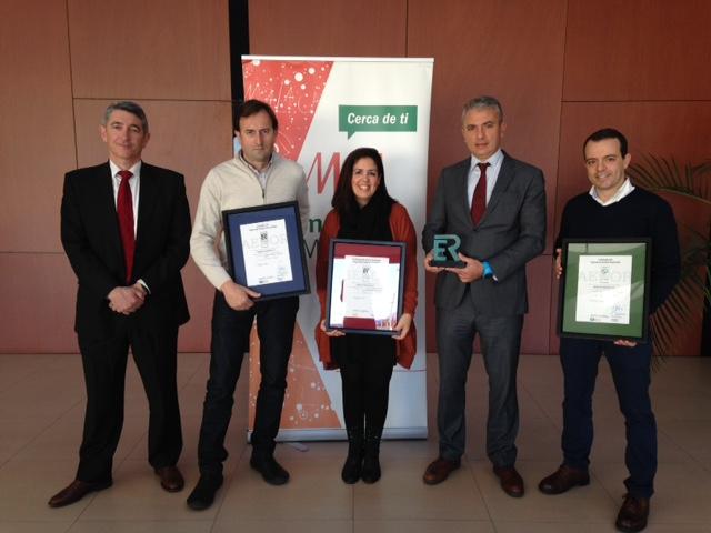 AENOR hace entrega a Metro de Málaga de las certificaciones a su gestión de calidad, medioambiental y de seguridad y salud laboral
