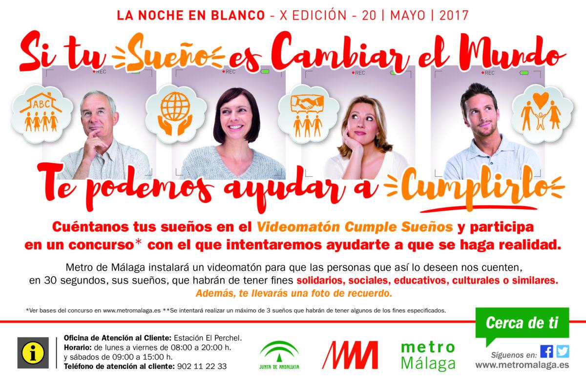 Metro de Málaga participa en La Noche en Blanco con la  instalación del videomatón Cumple Sueños