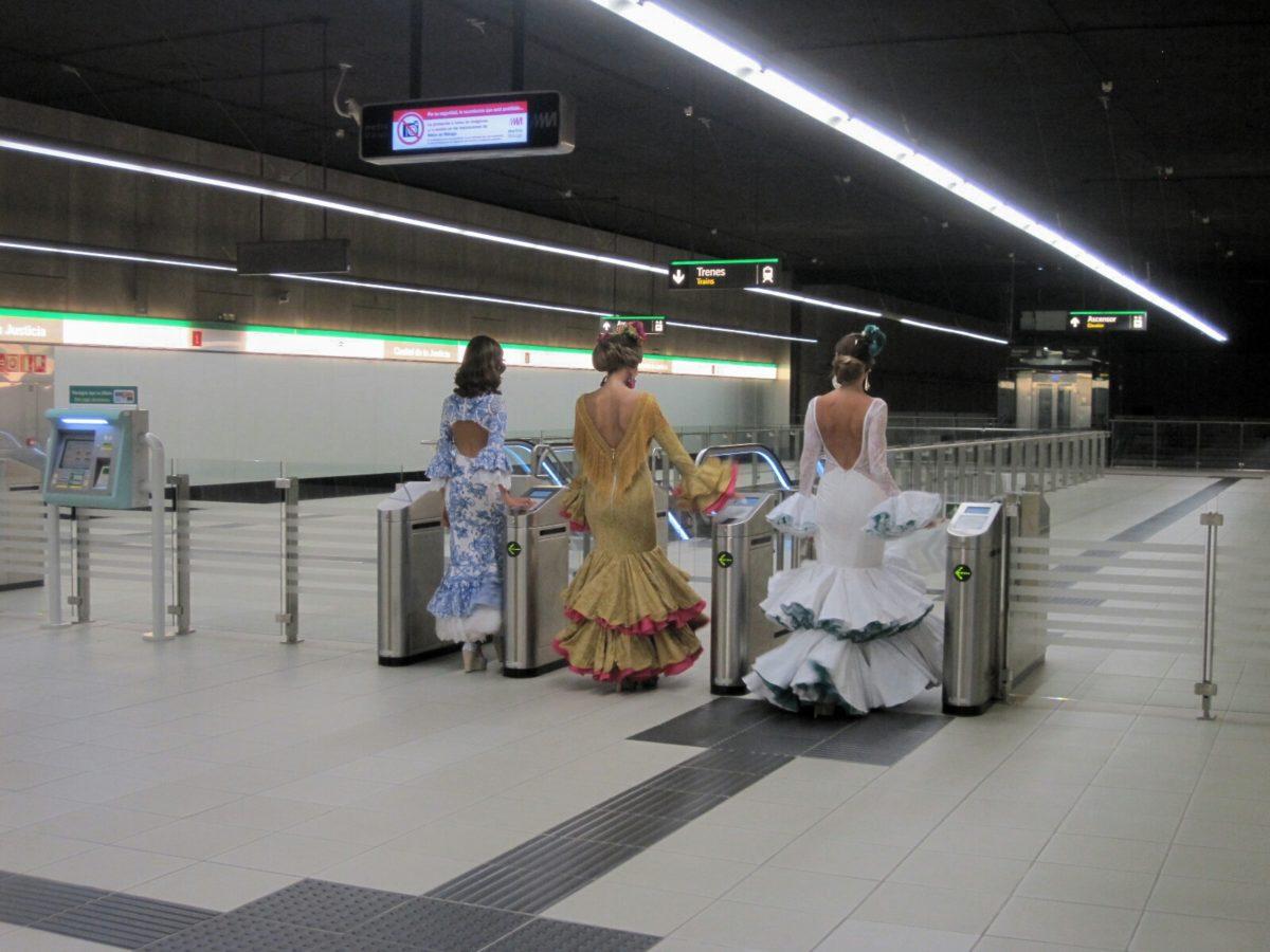 Metro de Málaga refuerza su servicio durante la Feria con ampliación de horarios y refuerzo del personal y vigilancia