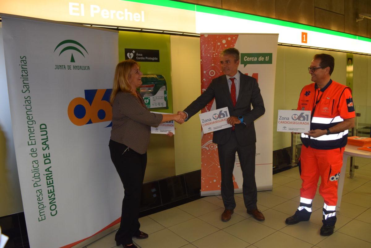 Las estaciones del Metro de Málaga, reconocidas como zonas cardioaseguradas por la Junta de Andalucía