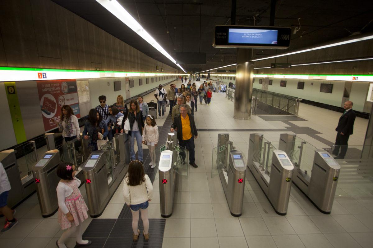 Metro de Málaga transporta 580.000 usuarios en octubre, el  mejor registro de viajeros desde su puesta en marcha